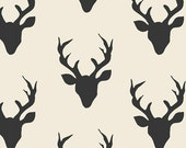 Buck Forest Night from the Hello Bear collection by Bonnie Christine for Art Gallery Fabrics HBR-5434 Deer Silhouette Silo Antlers
