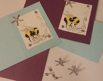 Handmade Greeting Card, Bumblebee