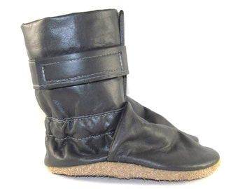 Soft Sole Gray Leather Baby Boots 18 to 24 Month