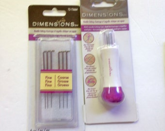Needle Felting Tool and Needles Coarse Fine Set Dimensions Multi Needle Felting Tool