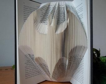 Batman, Folded Book Art, Gift for Him, Book Sculpture, Batman Art, Batman Decor, Comic Book Art