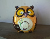 Adorable Owl bank, vintage cuteness in a piggy bank