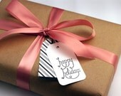 Happy Holidays - Set of 10 Paper Tags for Unique Gift Giving