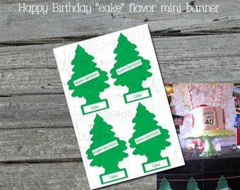 Road Trip Air Freshener Pine Tree Birthday Banner - Happy Birthday - digital - printable - diy INSTANT DOWNLOAD