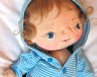 Sale** 50% off** Enzo a One of a Kind Soft Sculpture Baby Doll by BeBe Babies