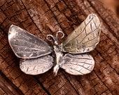 Butterfly Pendant in Sterling Silver, Artisan Butterfly Center Piece