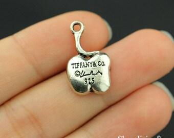 12pcs Tiffany Apple Charms Pendant Antique Silver Tone - SC193