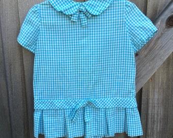 Blue Gingham Dress 18/24 Months