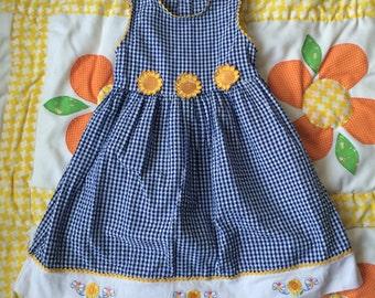 Sunflower Dress 4/5T