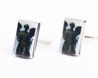 CUFFLINKS - Cuff Links, Personalized Cuff Links, Groomsmen Gift, Bethesda Fountain Cuff Links
