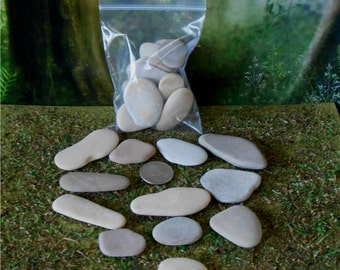 Pebble Art~12 Pieces, Fairy Garden Stepping Stones Decorative Rocks Decorative Stones Craft Stone Fairy Rocks Natural Rock Stepping Stones
