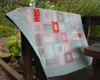 Pink and Blue Quilt