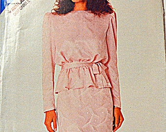 Sewing Pattern Butterick See & Sew 5976 Misses' Top and Skirt size 6-14, bust 30-36 inches Uncut