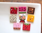 So Fruity - Handmade Polymer Clay Buttons (8)