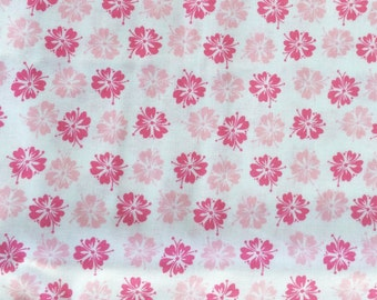 Pink floral fabric - 1 yard x 41 inches