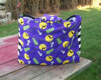 Tote Bag Halloween Trick or Treat Reusable Grocery Bag Ready to Ship Shopping Tote