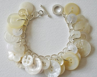 Button Bracelet Icy Pearl