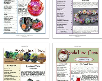 Bundle of Soda Lime Times Lampworking Magazines - Sept 2013 - Dec 2013