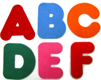 Diecut, Alphabet,  Letters, Numbers,  DIY, Appliques, Wool blend felt,  Precision die cut, Names, Messages, Three inches high