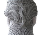 WINTER SALE Dark Gray Hand Knitted Vest by Afra