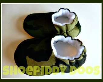 Camofluage - Soft Baby Shoes, 6-12 Months