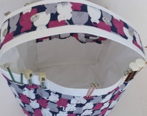 Knitting Storage, Knitting Needle Storage, Yarn Storage, Crafter-Crochet, Tote, 33+ Needle Sleeves, 4 Grommets, Yarn Storage, Multiple Feed