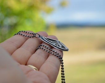 Nature lover - sterling silver butterfly wing necklace