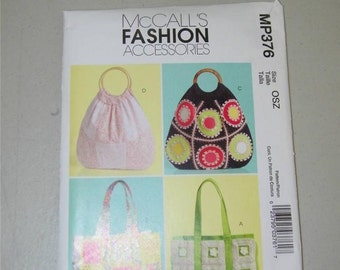 McCalls McCall's Handbag Pattern MP376 11863