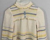 70s Baby Girls Space Dyed Bell Sleeve Sweater 9-12 months