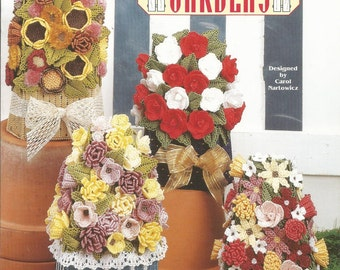 Doorstop Gardens Plastic Canvas Patterns, Flower Bouquets, Needlecraft Shop, Unique Gift, Housewarming Gift, Sewing Pattern, Sewing Supplies