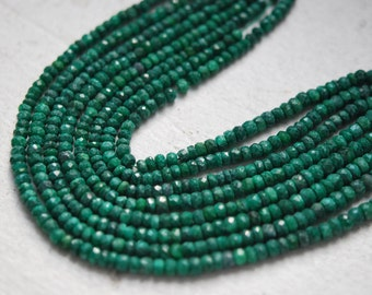 Faceted emerald roundels small