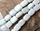 """Amazonite 12-13mm Beads 15"""" Strand Gemstone Beads Pastel White-Blue Natural Undyed Stones"""