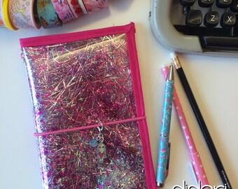 Sally Standard DIDORI confetti lilac border Travelers NotebooK fauxdori