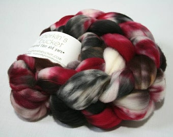 hand dyed fiber - SW Merino fiber - Bad Things colorway (dyelot 92216)