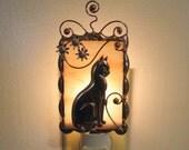 Silver Cat Night Light.