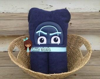 Bedtime Heroes Hooded Towel PJ Masks Villain Night Ninja
