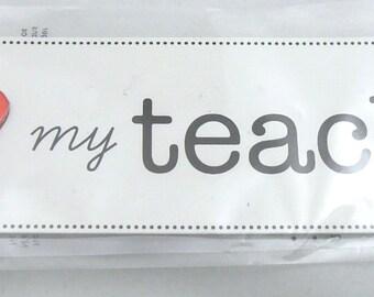 I Heart My Teacher Embellishment - DESTASH