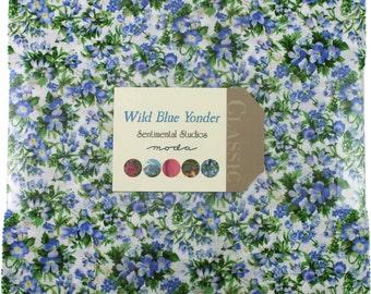 "Wild Blue Moda 2016 Layer Cake, 42 - 10"" precut fabric quilt squares by Sentimental Studios"