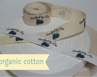 Your Custom Labels Printed in Full Color on Organic Cotton Twill Ribbon  - LOTS of Designs to Choose From OR Use your Logo - 4 Yards