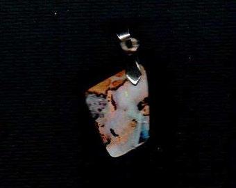 Australian Boulder Opal 1 inch x 3/4 inch  Pendant