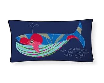 Blue Whale Pillow
