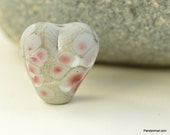Heart of Stone - Lampwork Bead Focal - Pink Pebble Bead - CPteam  - SRA