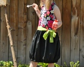 SALE Girls Halter Dress Pattern - Fiorella- 12-18m through 16 girls