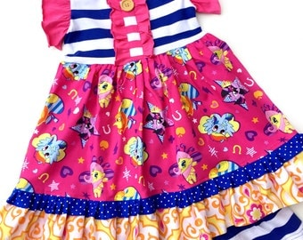 My Favorite Pony Friendship dress Momi boutique girls dress