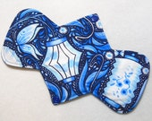 "9.25"" Heavy Lanterns and Butterflies - Reusable Cloth Menstrual Pad (9HC)"