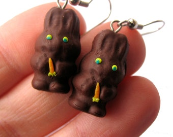 Chocolate Easter Bunny EARRINGS