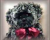 Pepper - Artist Teddy Bear, On Sale, Handmade Teddy Bear, Faux Fur, OOAK, 14 Inch