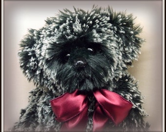 Pepper - Artist Teddy Bear, On Sale, Handmade Teddy Bear, Faux Fur, OOAK, 14 Inch
