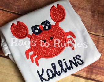 Personalized Crab Beach Shirt