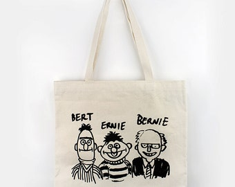 Bert Ernie Bernie Tote Bag